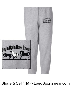 BAHR Unisex fleece sweatpants Design Zoom